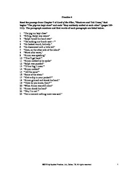 Lord of the Flies Chapter 7 English Skills worksheet by Ap