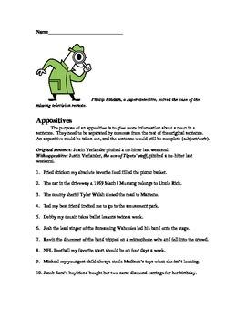 Appositives - Comma Rule Worksheet