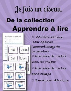 Apprendre à lire: Je fais un oiseau - Learn to Read French
