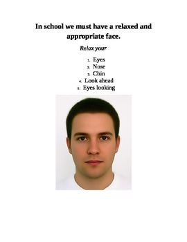 Appropriate Facial Expression Visual {Autism, Special Education}