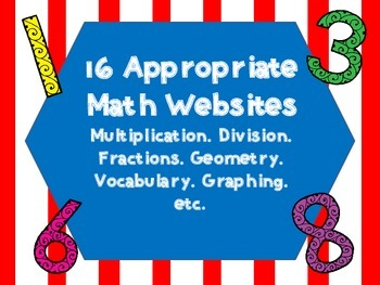 Appropriate Math Websites