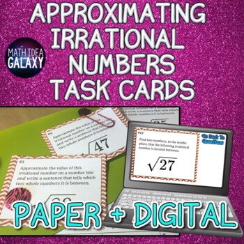 Approximating Irrational Numbers Task Cards