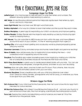 ELA Apps and Websites
