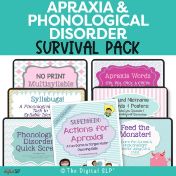 Apraxia & Phonological Disorder Survival Pack Bundle