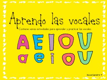 Aprendo las vocales   Vowels in spanish