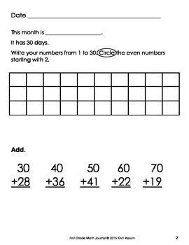 April 1st Math Journal