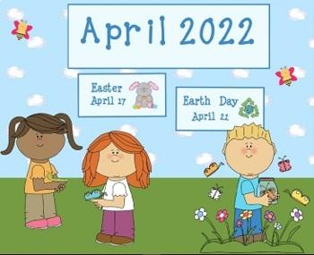 April 2017 Activboard Calendar Activities