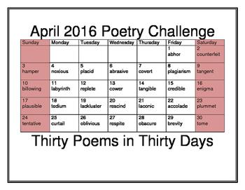 April 2016 Poetry Challenge