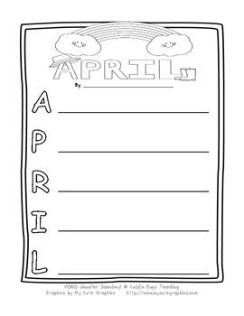 April Acrostic Poem from Cuddle Bugs Teaching