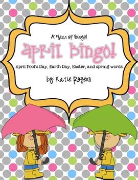 April Bingo {A Year of Bingo!}