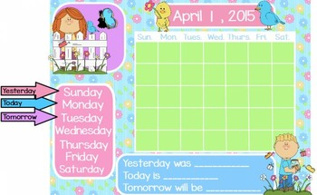 April Calendar, Attendance, and Question of the Day Flipch