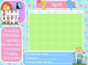 April Calendar Flipchart for ActivInspire