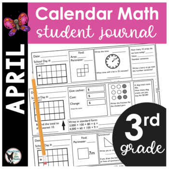 April Calendar Math Student Journal