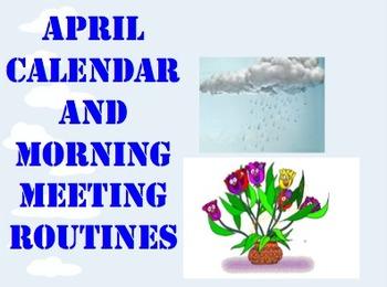 April Calendar & Morning Meeting Routines