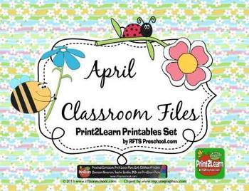 April Classroom Teacher Files