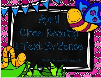 April Close Reading Freebie