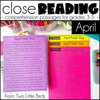 April Close Reading Passages