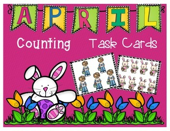 April Counting Task Cards
