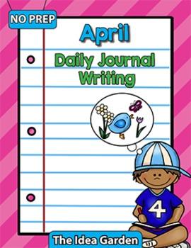 April Daily Journal Writing - NO PREP
