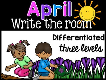 April  Differentiated Write the Room { Beginning Sounds, C