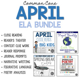 April ELA Bundle for Grades 4-6 Common Core Aligned