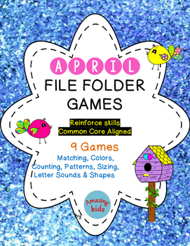 April File Folder Games **FREE**