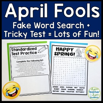 April Fools Word Search and Tricky Test