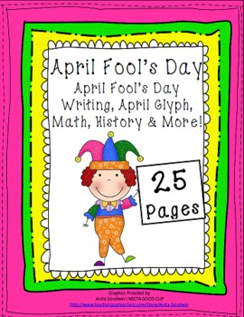 April Fool's Day {Glyph, Math, Writing, Literacy Centers & More}