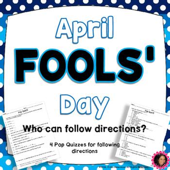 April Fools' Day Quizzes!!!