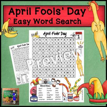 April Fools' Day Word Search * Easy