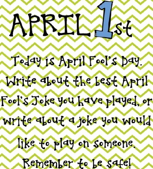 April Fool's Day Writing Prompt