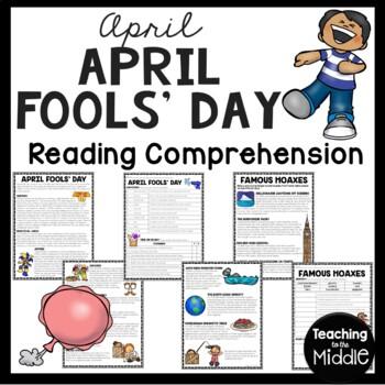 April Fools' Day, Reading Comprehension Worksheet, Spring,