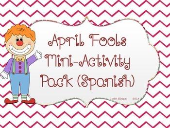April Fools MiniActivity Pack SPANISH