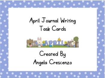 April Journal Writing Task Cards