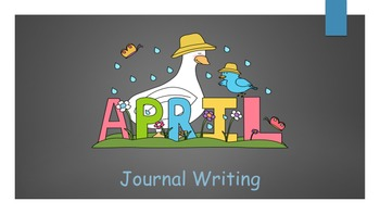 April Journal writing/ prompts/ free Writing/ independent