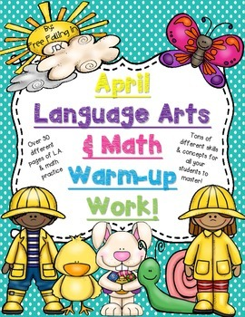 April Language Arts & Math Warm-Up Work