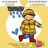 April Lesson Plans Series 2 [Four 5-day Units]