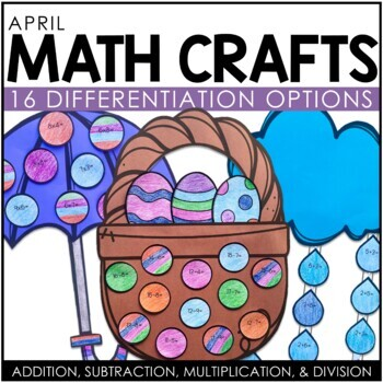 April Math Crafts (differentiated)