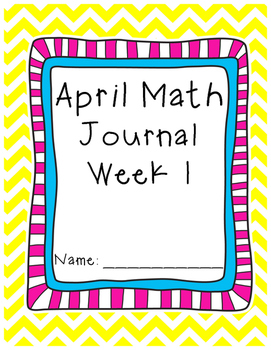 April - Math Journal - Calendar Math - First Grade - Commo