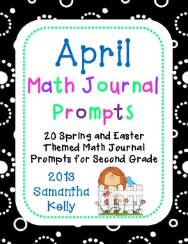 April Math Journals for Prompts for 2nd Grade