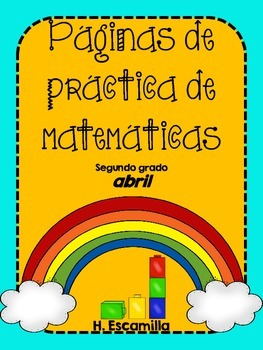 April Math Practice in Spanish for SECOND GRADE