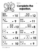 April Math Worksheets & Centers for First Grade (English)