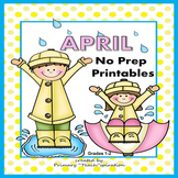 April Math and Literacy NO PREP Spring Printables for Comm