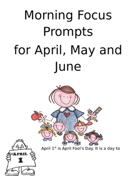April, May and June Morning Focus Prompts
