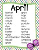 April Mini-Word Wall and Cards