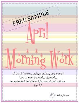 April Morning Work- Free Sample