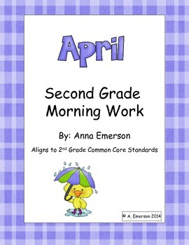 April Morning Work Second Grade Common Core Standards