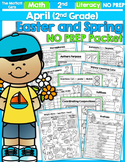 April NO PREP Math and Literacy (2nd Grade)