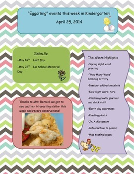 April Newsletter Weekly