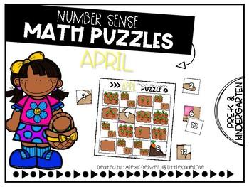 April Number Sense Math Puzzles